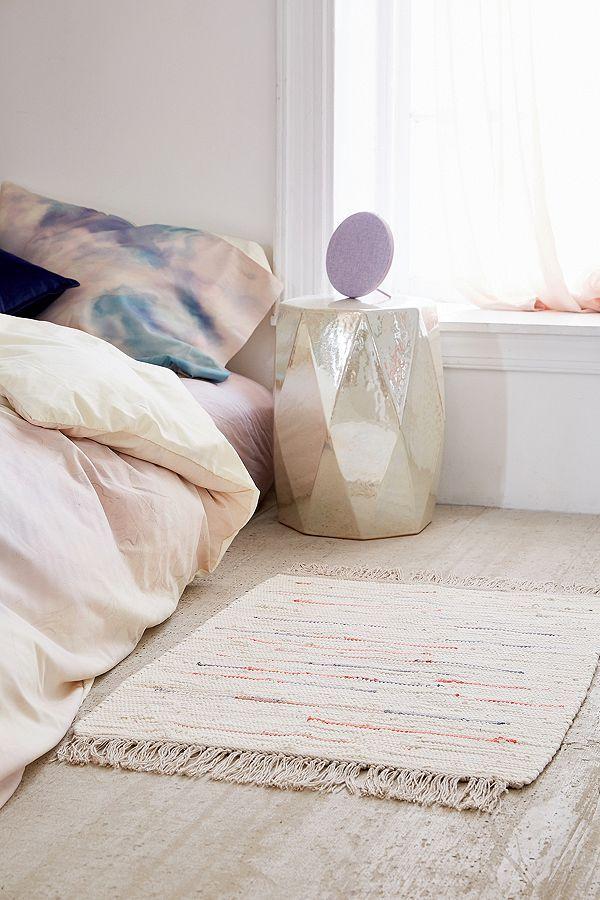 Chambre D Ado Fille Couleurs Pastels Tapis Tisse Style Boheme
