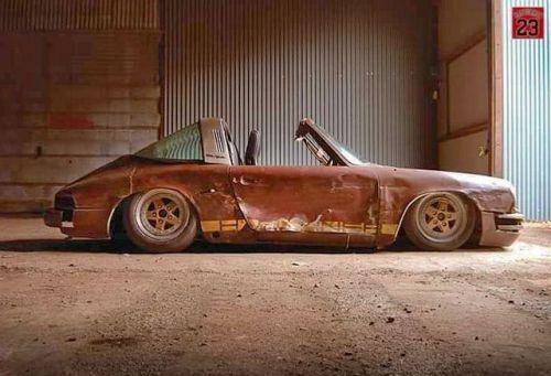 porscheartdaily: Porsche Kunst oder Rosteimer? #ratrod # cult911 …   – Autos