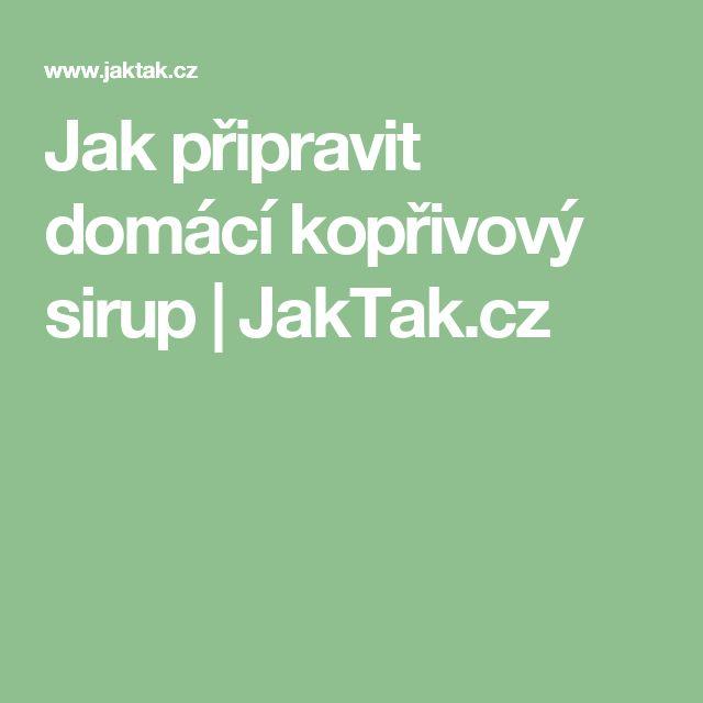 Jak připravit domácí kopřivový sirup | JakTak.cz