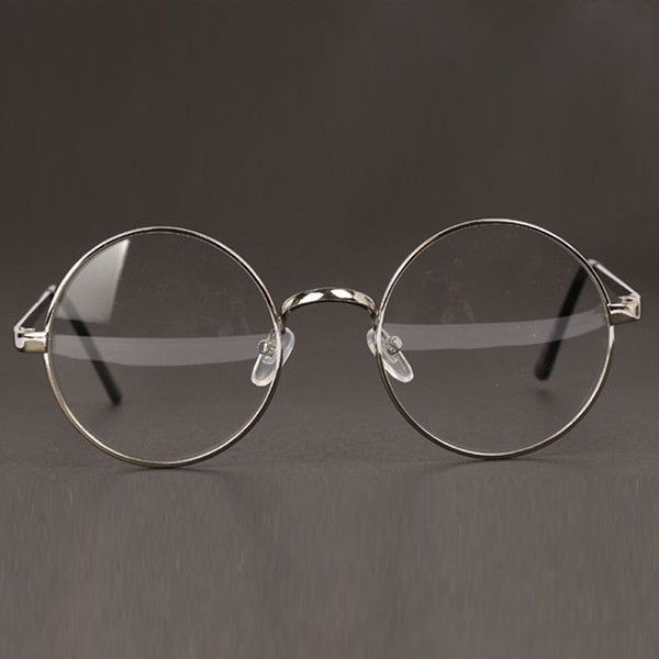1bbf57c22f Women or Men Retro Round Metal Frame Clear Lens Glasses Nerd Spectacles