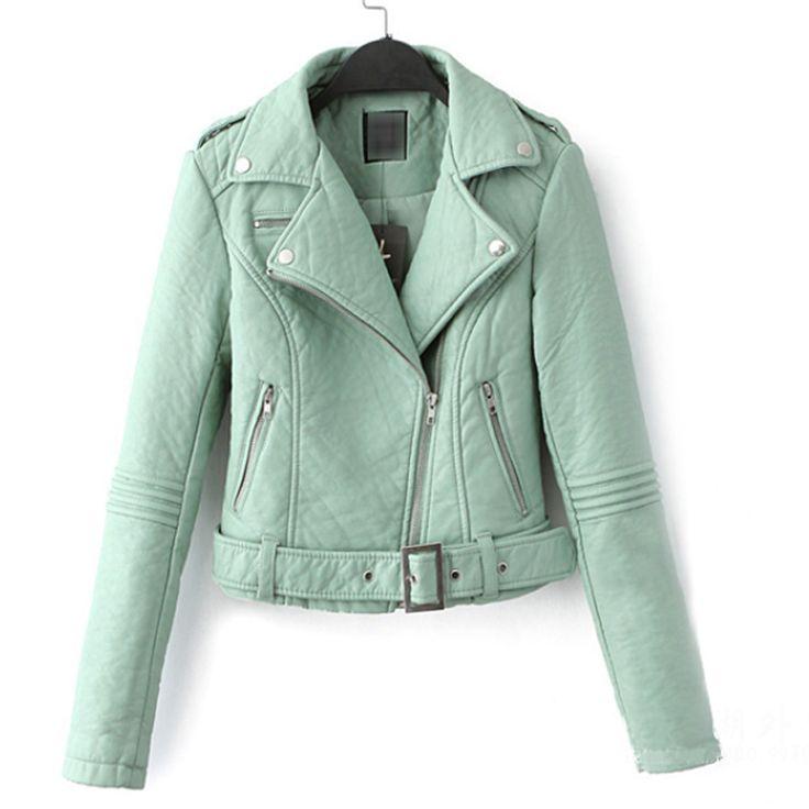 Winter Jacket Women 2015 Plus Size Leather Jacket 4XL 5XL Thick Pilot Motorcycle Leather Jacket Sashes Slim Leather Biker Jacket