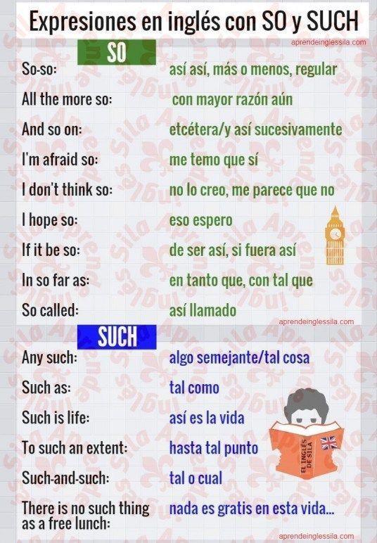 Cómo se usan SO y SUCH en inglés - Aprende Inglés Sila