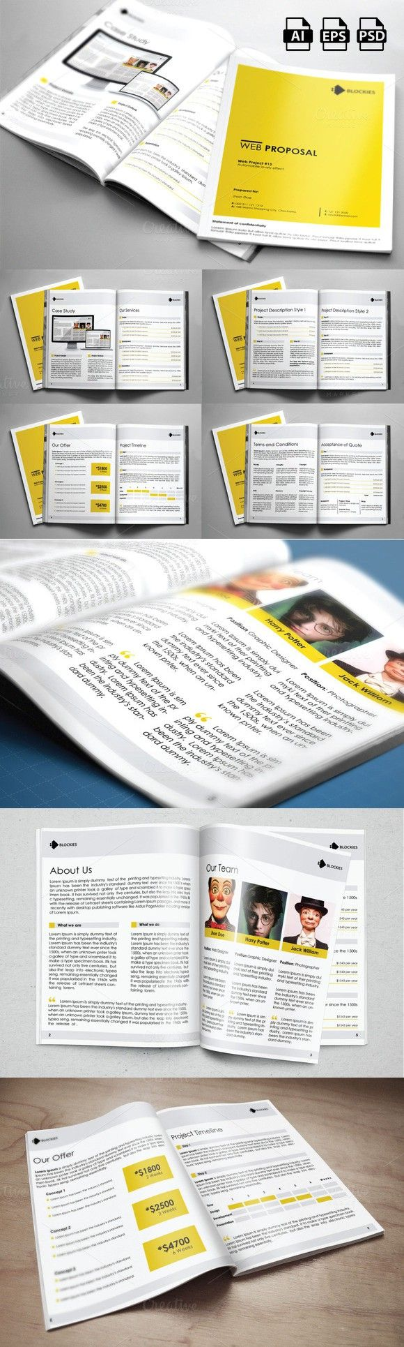 Web Proposal & Annual Report 42% Off. Stationery Templates