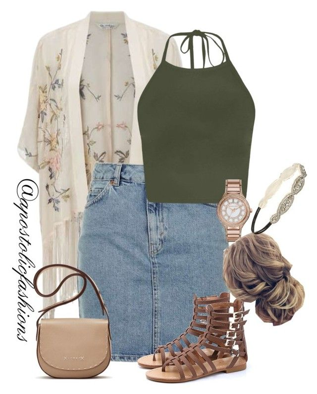 """Apostolic Fashions #1809"" by apostolicfashions on Polyvore featuring Miss Selfridge, Topshop, MICHAEL Michael Kors, Forever 21 and Elizabeth and James"