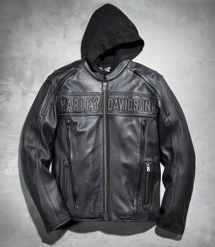 Jaket Kulit Harley Davidson Original with Hoodie, Pesan Online 081703402482 (WA/TLP)