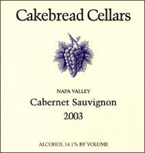 And almost any cab from Cakebread will do...