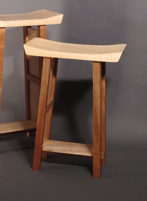 Awesome Custom Wood Bar Stools