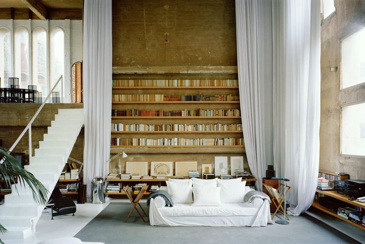 Living room in the residential section of La Fabrica by Ricardo Bofill [OS] [1440x965] - Interior Design Ideas, Interior Decor and Designs, Home Design Inspiration, Room Design Ideas, Interior Decorating, Furniture And Accessories