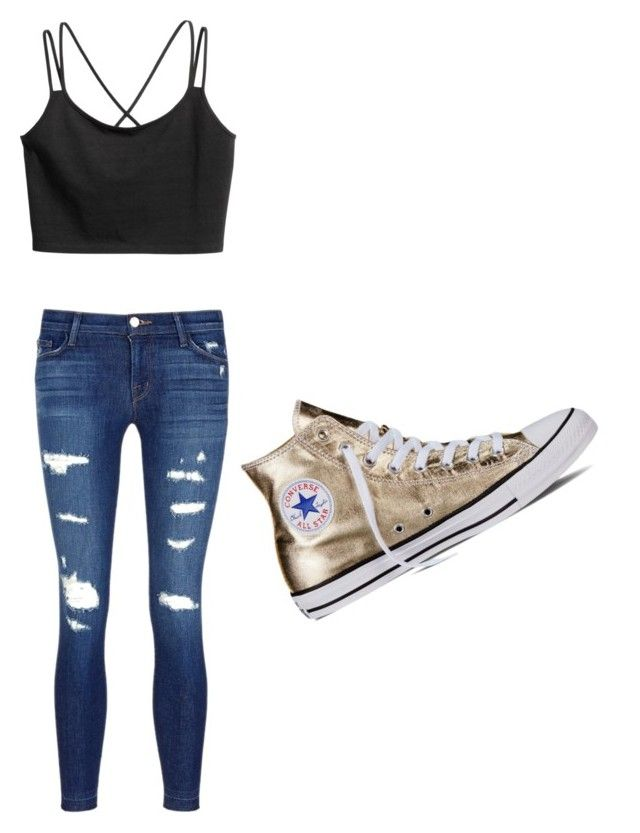 """Untitled #15"" by brookohl on Polyvore featuring J Brand and Converse"