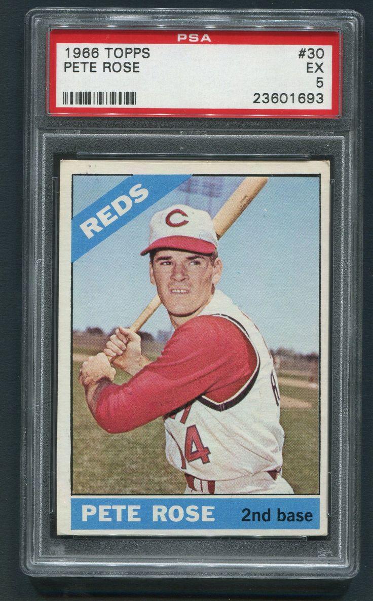 1966 TOPPS 30 PETE ROSE PSA 5 EX Cincinnati reds