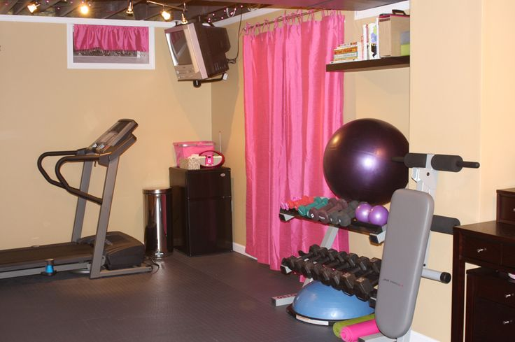 134 best home gym images on pinterest workout rooms for Basement workout room