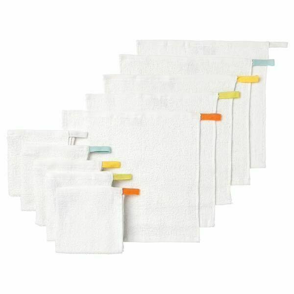 IKEA KRAMA Baby-Waschlappen Abschminken 100/% Baumwolle NEU