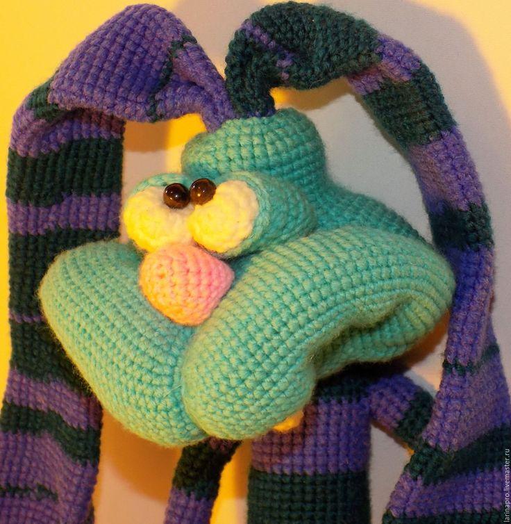 Купить Чумовой заяц Кекс - игрушка ручной работы, игрушка в подарок, мягкая игрушка