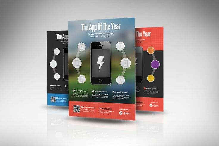 Apper - Mobile App Flyers by Rafael Oliveira on @creativemarket