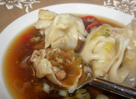 Chili-Spiced Shrimp Wonton Soup Recipe - Thai.Food.com