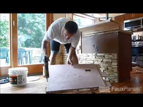 Kitchen Island Makeover with Stacked Stone Panels - YouTube