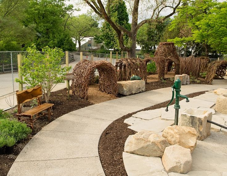 The Nature Discovery Area, Built By KGK at Cleveland Metro Parks Zoo, Opened May 2014 | KGK Gardening & Landscape Design Hudson - Northeast Ohio's Landscape Architecture & Design Company