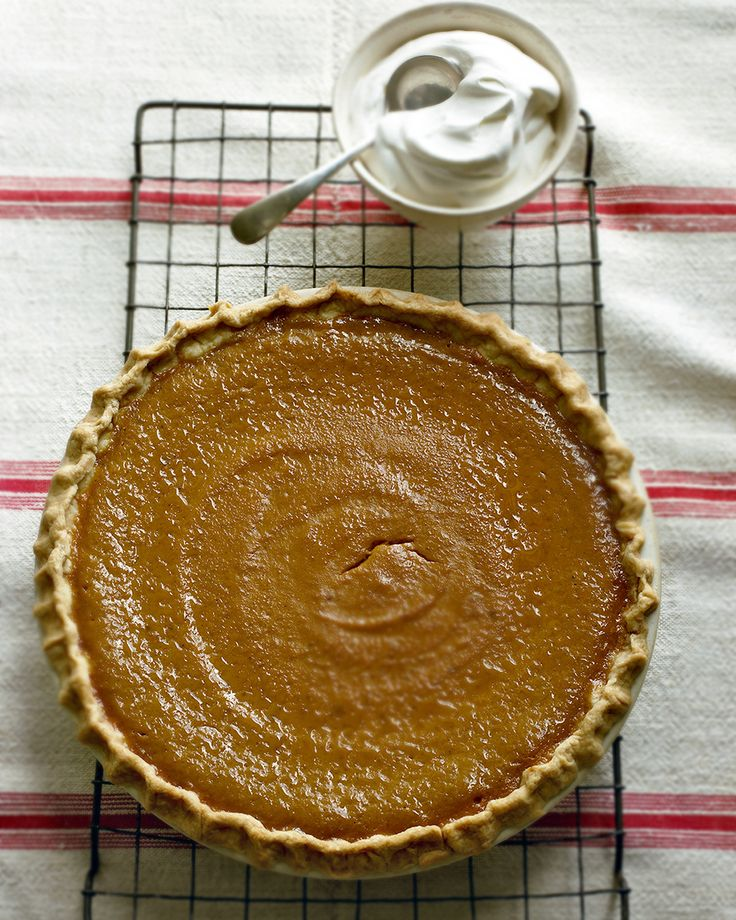 Here it is, the ultimate recipe for the one pie that defines Thanksgiving. Solid-pack pumpkin puree is seasoned with pumpkin pie spice and whipped with eggs, brown sugar, and half-and-half to make the rich, smooth custard filling of the perfect pumpkin pie.