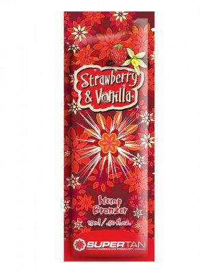 Strawberry & Vanilla Бронзатор с экстрактом из конопли 15мл Supertan American Product от Supertan American Product
