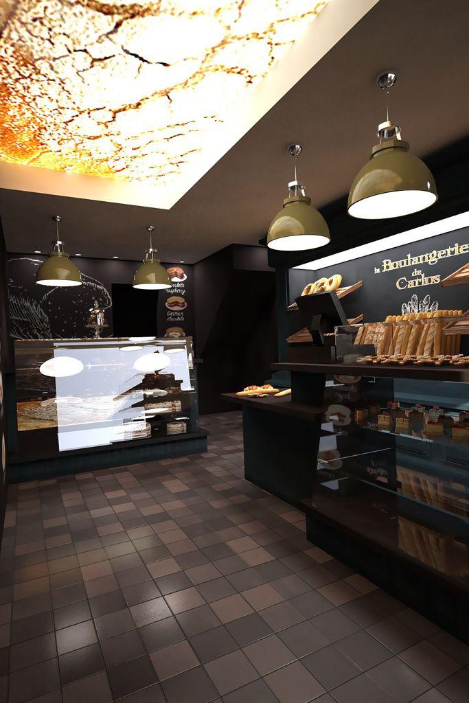 Boulangerie agencement commerce réalisé par www cadypso com architecture d intérieur