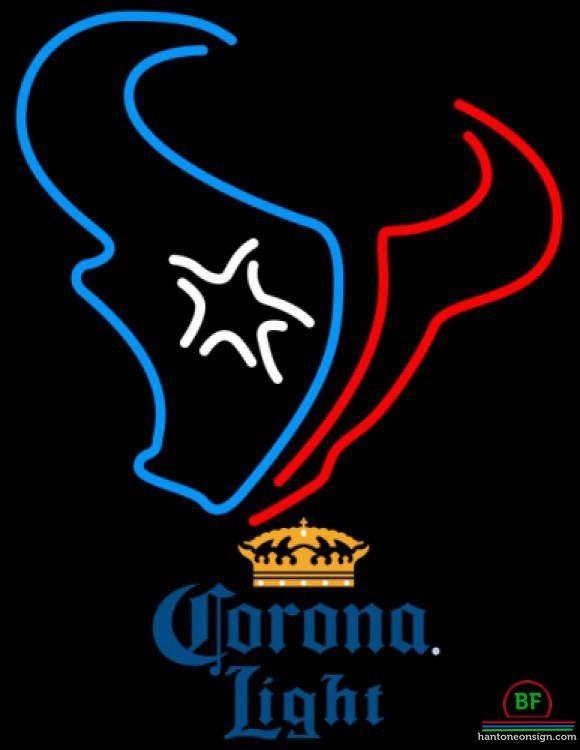Corona Light Houston Texans Neon Sign NFL Teams Neon Light
