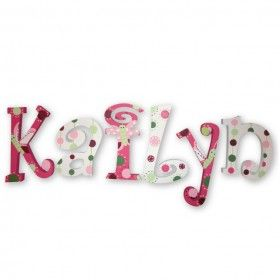 Kailyn Raspberry Swirl Hand Painted Wall Letters