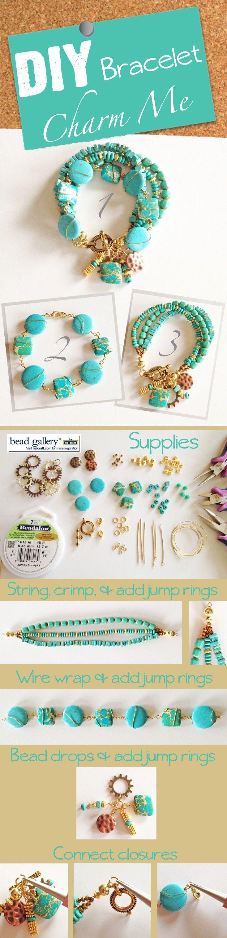 DIY Jewelry Charm Me Turquoise Bracelet T