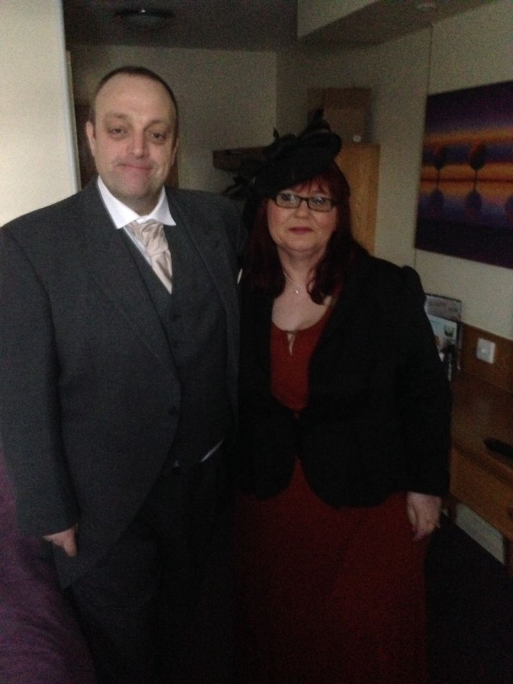 Me and kev in our posh outfits