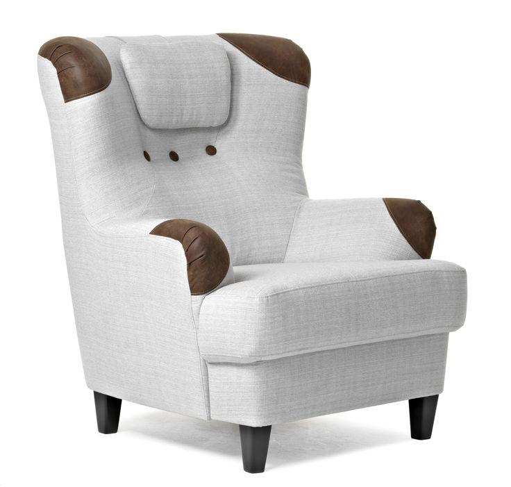 Bogart mixar retro och moderna detaljer i en härlig blandning. En hög rygg och fast sittkomfort ger en mycket skön fåtölj, som det är lätt att sätta sig i och resa sig ur. Går att få med läderskodda armstöd, läderklädda knappar och dekorsömmar.