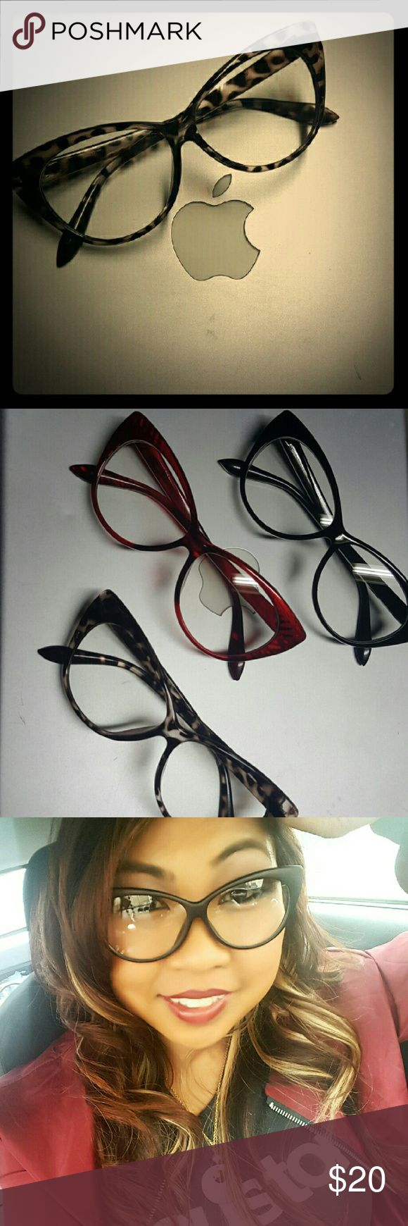 Cheetah print Cat Eye Retro Fashion Glasses Adding a little attitude to any outfit... :-) Accessories Glasses
