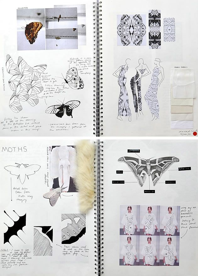 textiles and fashion design sketchbooks 20 inspirational examples - Fashion Design Ideas