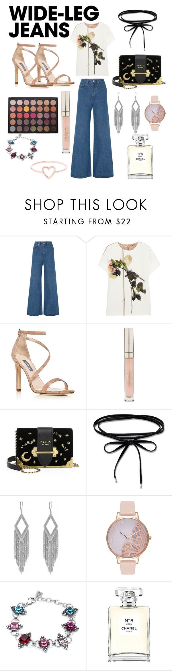 """""""Jeans for life"""" by avrilrotelas ❤ liked on Polyvore featuring Solace, N°21, SJP, Stila, Morphe, Prada, Thomas Sabo, Jessica Simpson, Olivia Burton and DANNIJO"""
