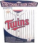Minnesota TWINS Baseball Stretchable Fabric Book Cover Major Sports League NEW