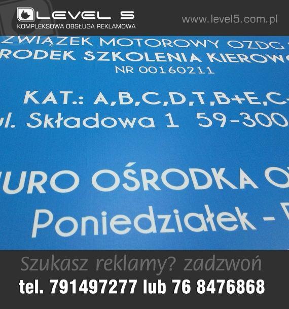 Tanie tablice informacyjne na firm usługowych.