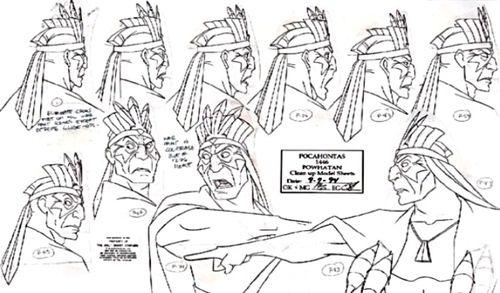 Pocahontas - Character Design - Concept Art