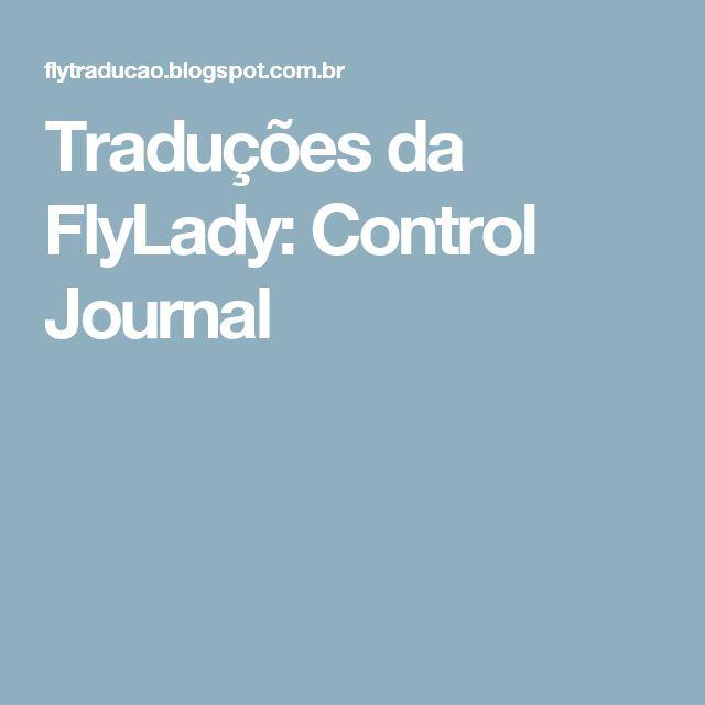 Traduções da FlyLady: Control Journal