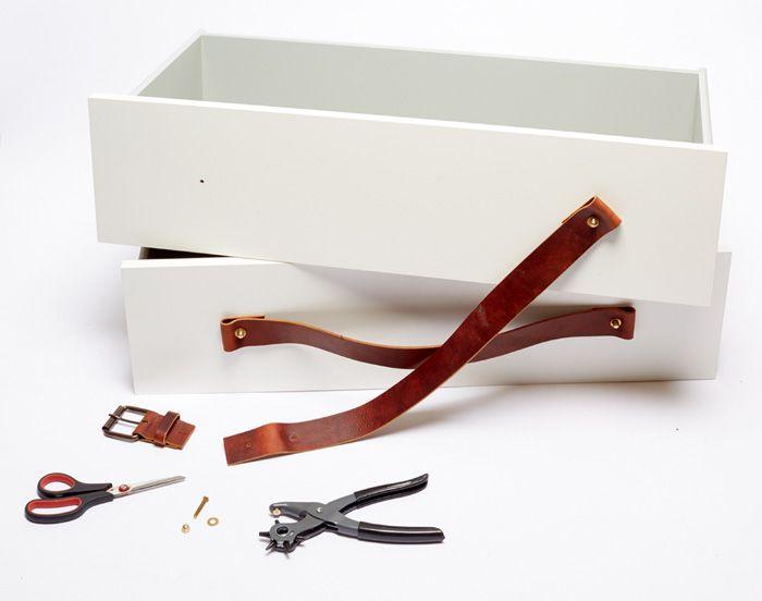 Ikea Unterschrank Herd Metod ~ DIY Kitchen Island Dresser Ikea Hack Leather Handles  Relooking