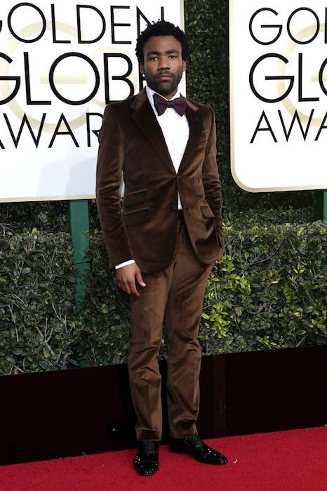 Donald Glover at the 2017 Golden Globe Awards...