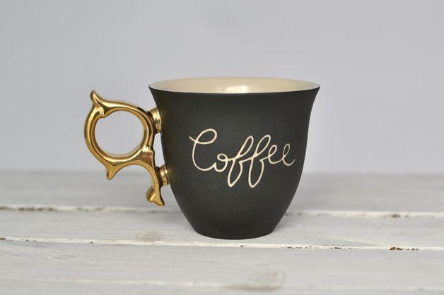 Filiżanka CoFFee - coco_ceramics - Kubki i filiżanki