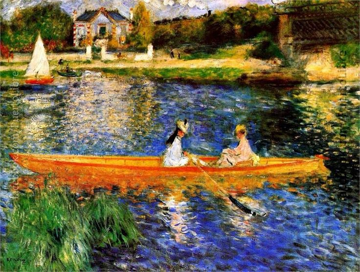 Pierre Auguste Renoir - The Seine at Argenteuil, 1888 at the Barnes Foundation Philadelphia PA