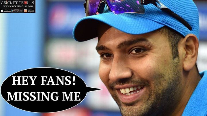 Admit It! Team India is undoubtedly missing Rohit Sharma!  For more cricket fun click: http://ift.tt/2gY9BIZ #INDvENG #3rdODI - http://ift.tt/1ZZ3e4d