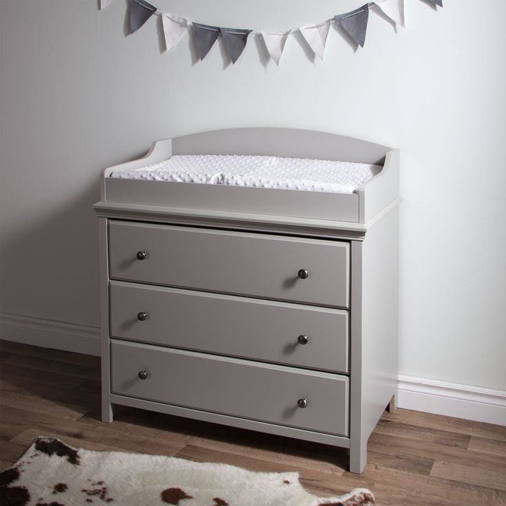 South Shore Cotton Candy Changing Table With Drawers (White   White Finish)