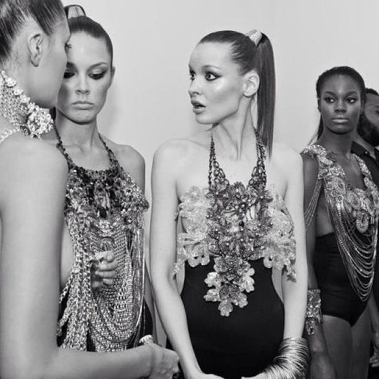 Moments before my runway show at NY Fashion week - a magical and inspiring memory of mine.