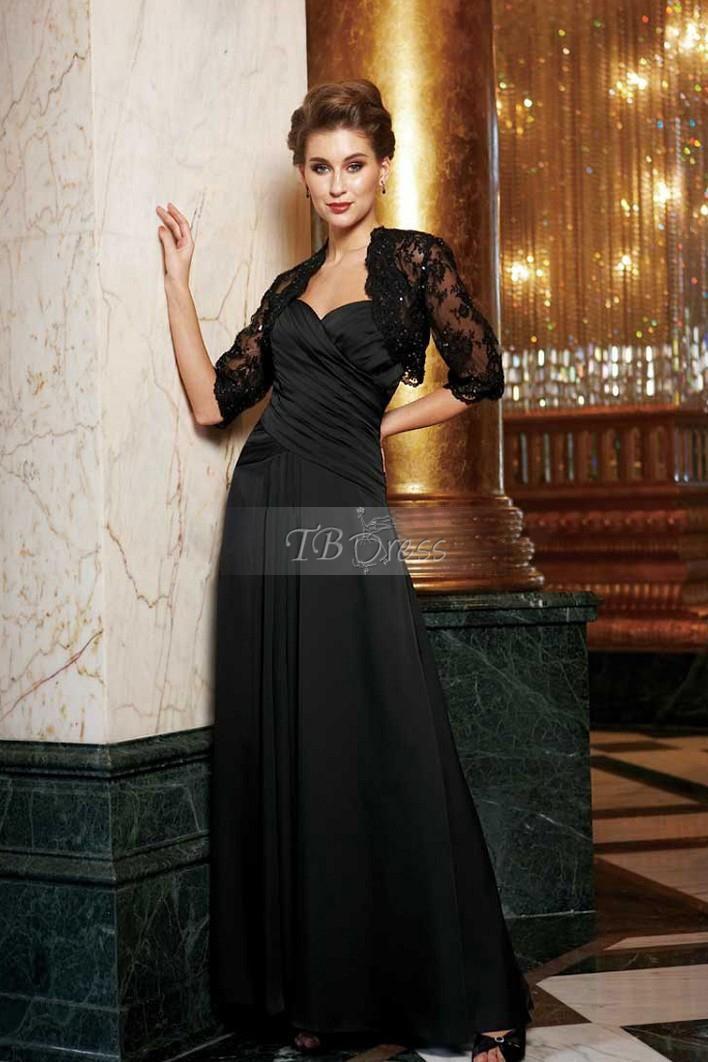3 4 Sleeve Black Lace Wedding Bolero Jacket Wedding