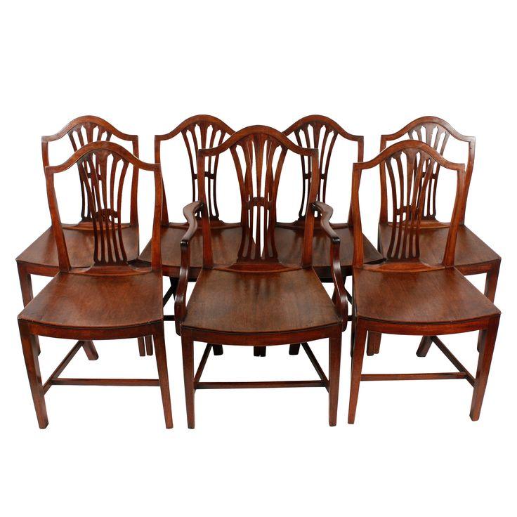 Set of 6 plus 1 Georgian Mahogany Chairs