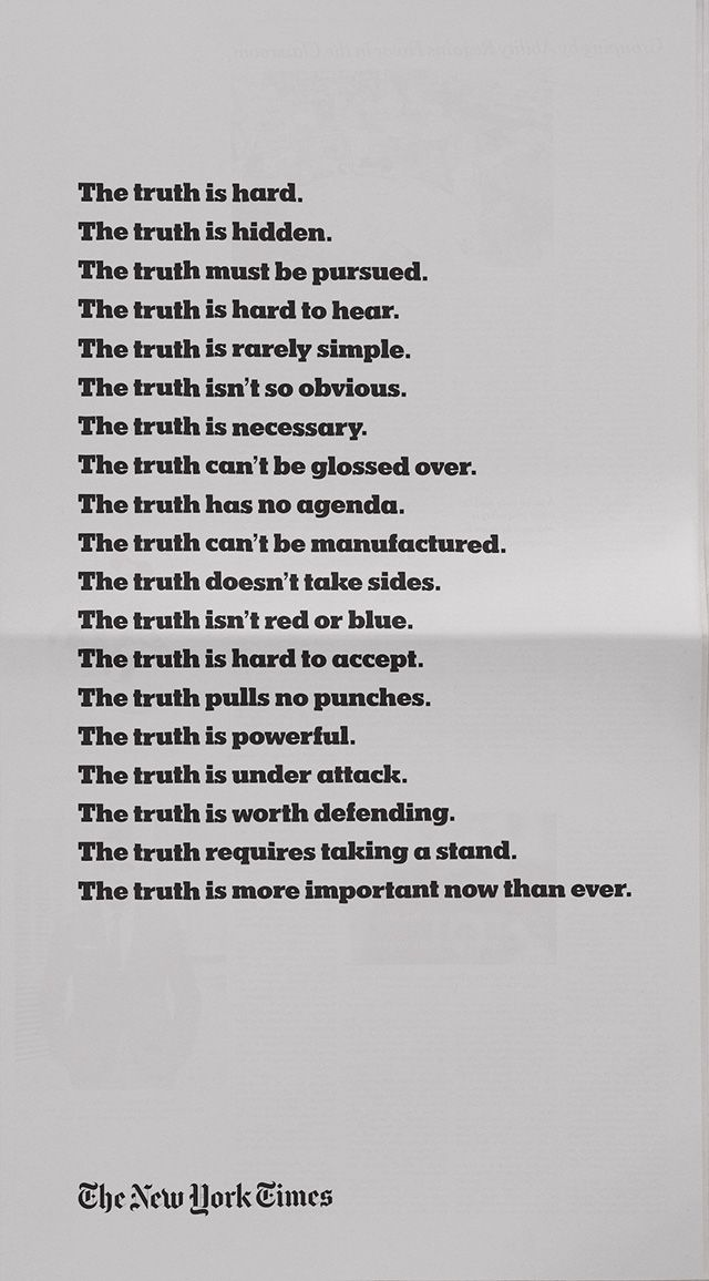 The New York Times Joins the Debate About the Truth in Minimalist Ads From Droga5 – Adweek