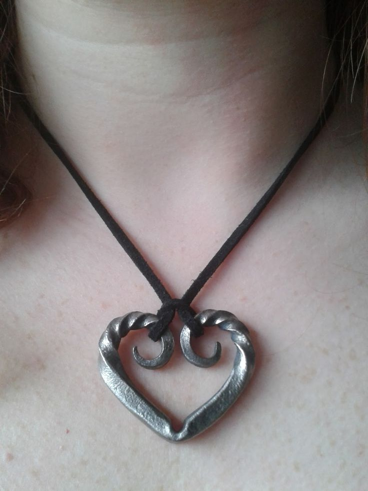 Forged heart pendant.