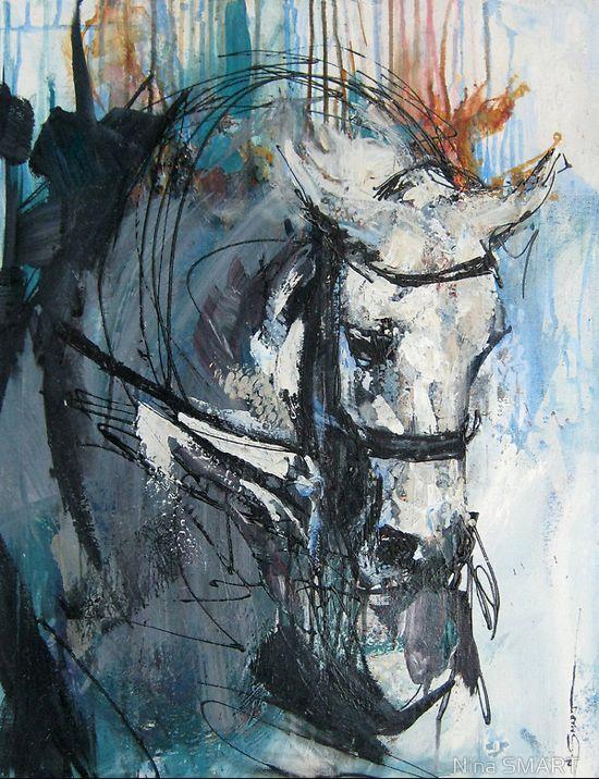 Horse Art: Nina Smart...repinned with thanks by DressageWaikato.co.nz...
