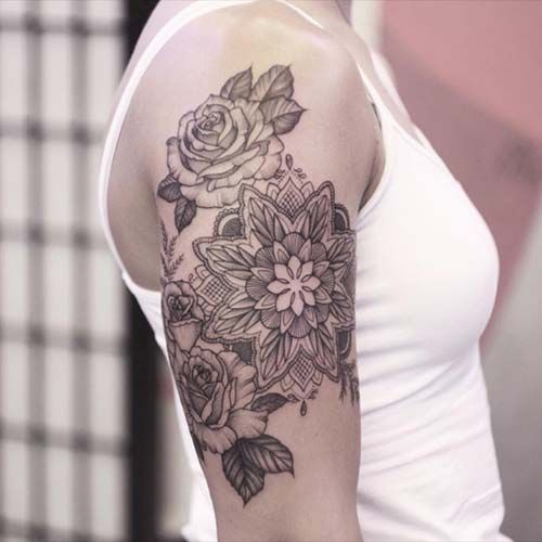 kadin uest kol doevmeleri upper arm tattoo  women uest