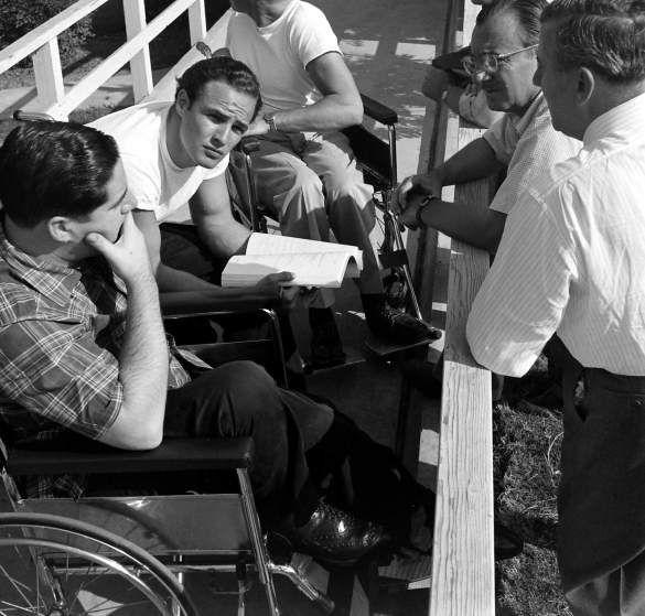 Marlon Brando rehearsing his role in <i>The Men</i>, Birmingham Veterans Administration Hospital, Van Nuys, Calif., 1949.